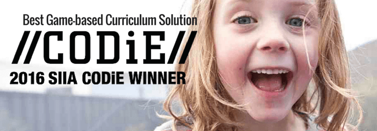 2016 SIIA CODiE winner for best game-based curriculum solution