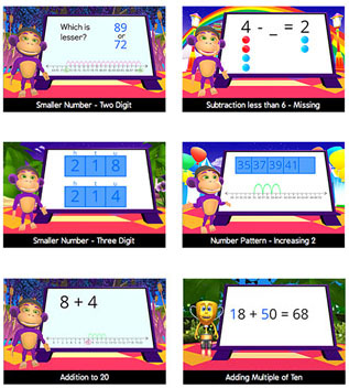 Skoolbo Numeracy Math - number recognition, counting, addition, subtraction, number patterns, times tables and more