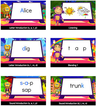 Skoolbo Reading Program - letter and sound introduction, blending, vocabulary, fluency and comprehension